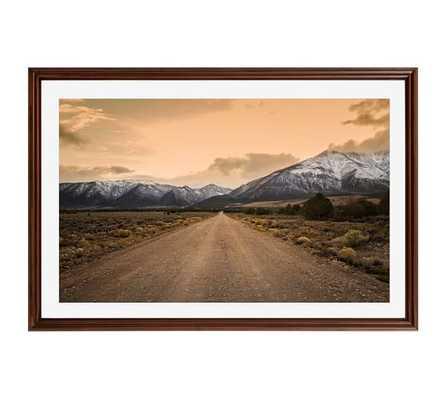 "Mountain Road by Jennifer Meyers  42 X 28""- DISTRESSED ESPRESSO FRAME - Pottery Barn"