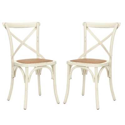 Safavieh Classical Bradford X Back Side Chairs (Set of 2) - Overstock