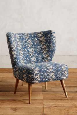 Linen Wave Print Chair - Anthropologie
