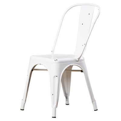 Waldron Metal Side Chair - Antique White - Wayfair