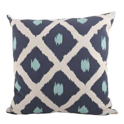Ikat 20-inch Down Filled Throw Pillow - Overstock