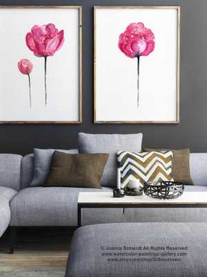 """Peony Set of 2 Posters- 11"""" x 14""""- Framed - Etsy"""