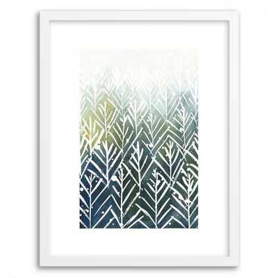 "Minted for west elm - Evergreens 16""w x 20""l framed - West Elm"