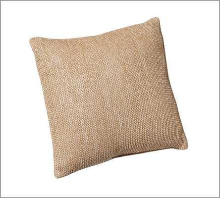 "Faux Natural-Fiber Indoor/Outdoor Pillow - 26"" PILLOW - Pottery Barn"