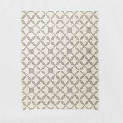 Tile Wool Kilim Rug - Platinum 8x10 - West Elm