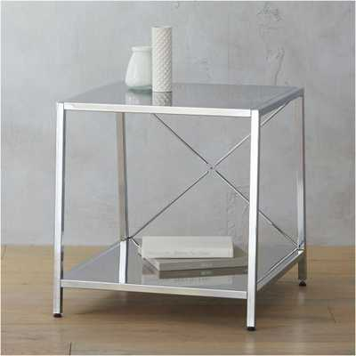 harvey chrome nightstand - Domino
