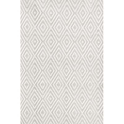 "Diamond Platinum & White Indoor/Outdoor Area Rug - 8'6"" x 11' - Wayfair"