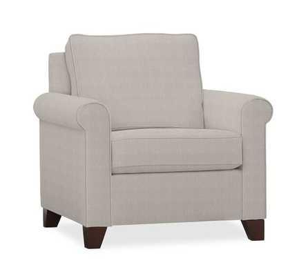 Cameron Roll Arm Upholstered Armchair - Pottery Barn