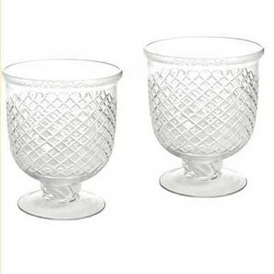 Hotel de Ville Cut Glass Hurricanes - Set of 2 - Ballard Designs