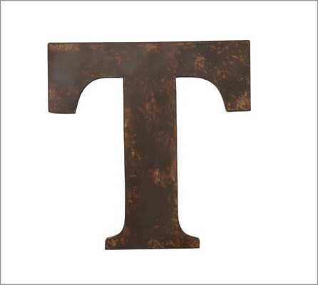 Rustic Metal Letters - T - Pottery Barn
