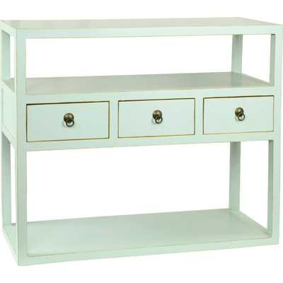 Mikayla Console Table - Aqua - Wayfair