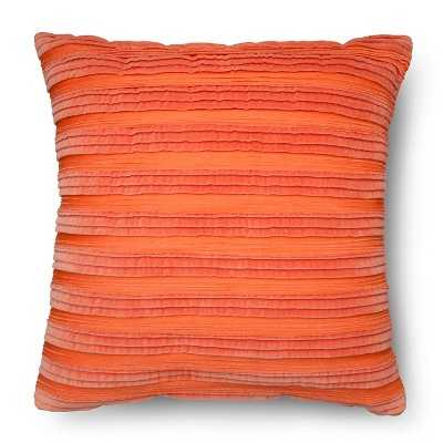 """Pleated Textured Toss Pillow - bahama sunset - 20"""" - with insert - Target"""