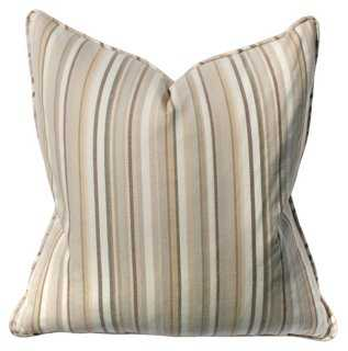 Owen 22x22 Cotton Pillow, Taupe, Insert Included - One Kings Lane
