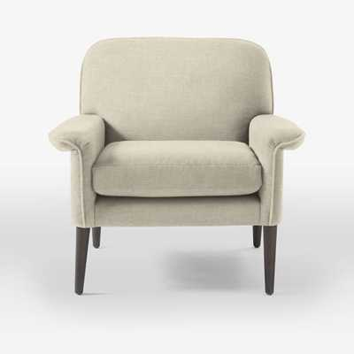 Anders Armchair - Brushed Heathered Cotton, Flax - West Elm