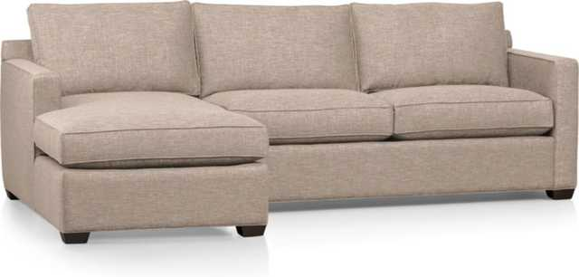 Davis 2-Piece Sectional Sofa - Crate and Barrel