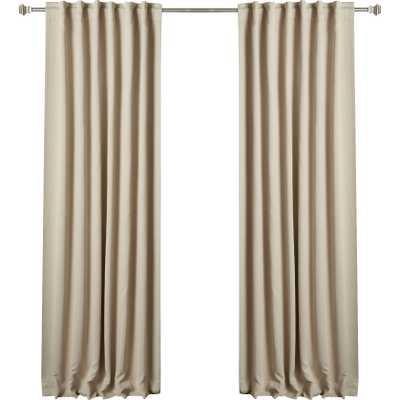 "Sweetwater Room Darkening Curtain Panel (Set of 2) - Beige - 84""L - Wayfair"