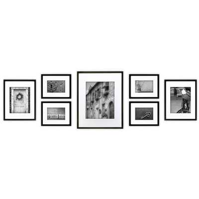 Gallery 7 Piece Perfect Wall Picture Frame Set - framed - Wayfair