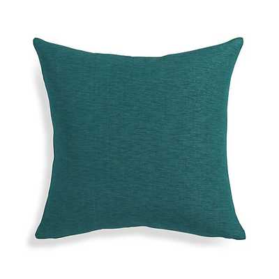"Linden Peacock Blue 18"" Pillow with Down-Alternative Insert - Crate and Barrel"