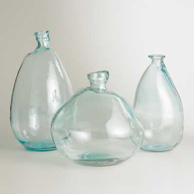 "Clear Barcelona Vase - 18""H - World Market/Cost Plus"