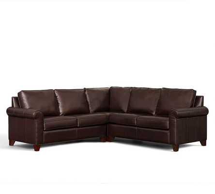 CAMERON LEATHER 3-PIECE L-SHAPED SECTIONAL WITH CORNER - Pottery Barn