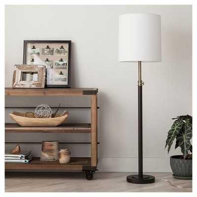 "Davis Adjustable Column Floor Lamp - Ebony 65.5"" - Target"