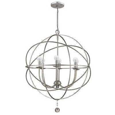 Orb Chandelier - Aged Silver; Small - Ballard Designs
