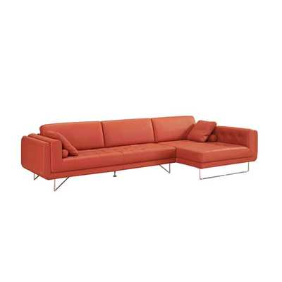 Divani Casa Katie Leather Right Hand Facing Sectional - AllModern