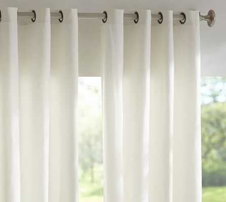 "Solid Indoor/Outdoor Grommet Drape- Natural, 84""L - Pottery Barn"