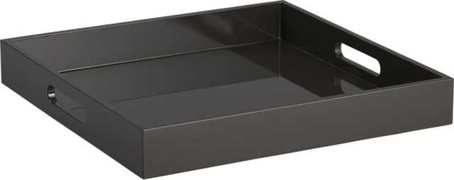 High-gloss square carbon tray - CB2