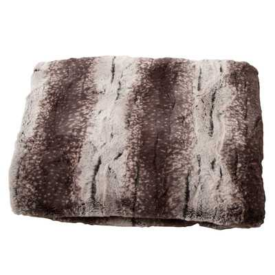 Luxury Striped Mink Faux Fur Polyester Throw Blanket - Wayfair
