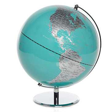 World Globe - Aquamarine - Z Gallerie