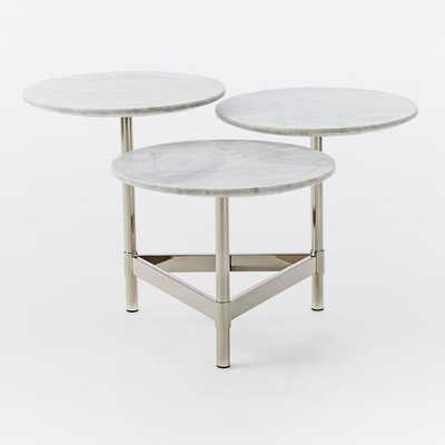 Tiered Circles Coffee Table - Marble - West Elm