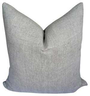 Flax Linen Pillow - One Kings Lane
