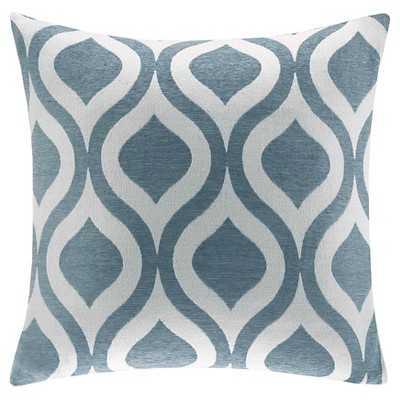 Mestre Chenille Square Pillow - Blue - Target