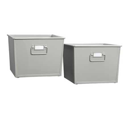 Metal Storage Set - Gray - Pottery Barn Kids