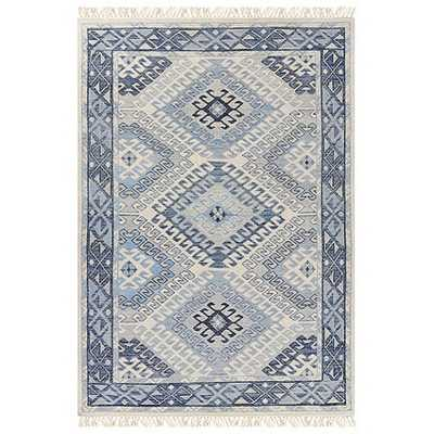 "Lindley Hand Knotted Rug - 5'6"" x 8' - Ballard Designs"