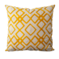 "Tangerine Geometric Square 18"" x 18"" Pillow-With Insert-Yellow - Domino"