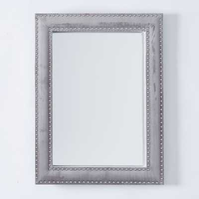 Upholstered Wall Mirror - Dove Gray Velvet - West Elm