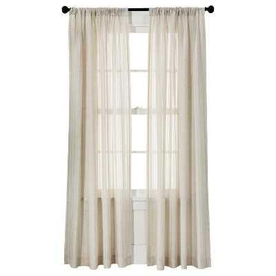 "Leno Weave Sheer Curtain Panel - Ivory, 95""L - Target"