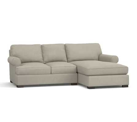 TOWNSEND UPHOLSTERED 2-PIECE CHAISE SECTIONAL-Left chaise - Pottery Barn