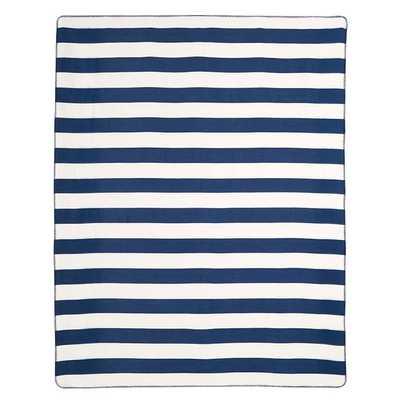 Cottage Stripe Fleece Blanket - Pottery Barn Teen