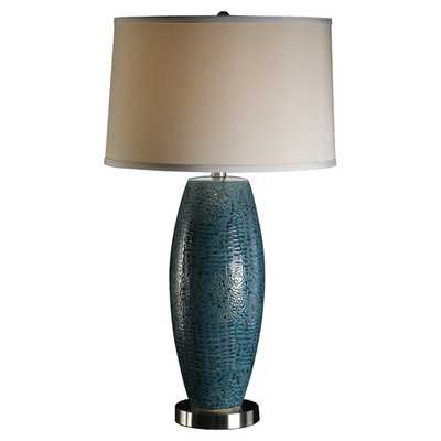 "Melrose 28.75"" H Table Lamp with Drum Shade - Wayfair"