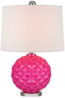Dimond Hot Pink Glass Accent Table Lamp - Lamps Plus