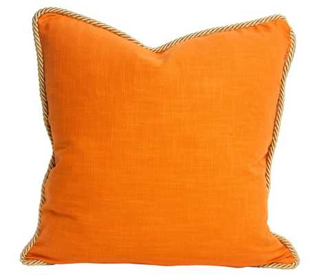 Colorblock Linen Pillow Persimmon & Koi - Society Social