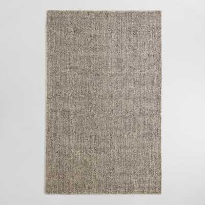 Light Gray Emilie Flatweave Sweater Wool Area Rug - World Market/Cost Plus
