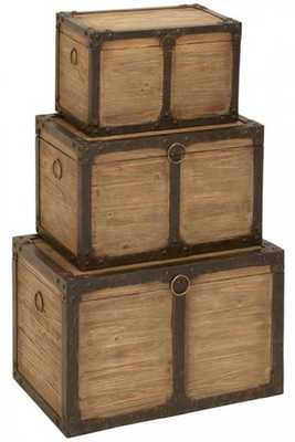 PURSER STORAGE TRUNK - SET OF 3 - Home Decorators