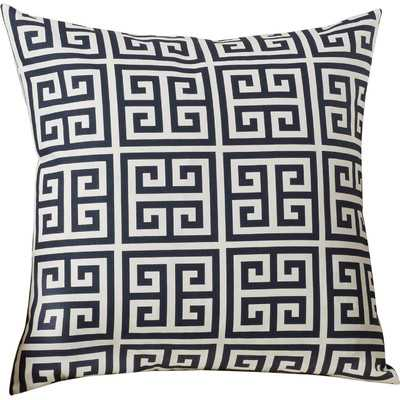 Blevins Cotton Throw Pillow - Black/White - 18sq. - Polyester insert - Wayfair