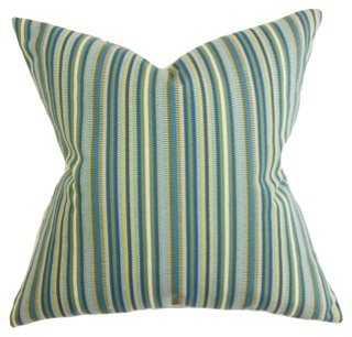 Dexter 18x18 Pillow, Indigo - One Kings Lane