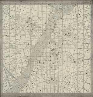 "Astrological Star Map No. 2, C. 1900 15"" x 15"" framed - One Kings Lane"