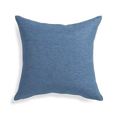 "Linden Indigo Blue 18"" Pillow with Feather-Down Insert - Crate and Barrel"
